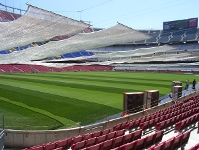 Camp Nou turf under protection