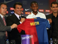 Keita presented as Bar�a player
