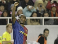 Eto'o is one of Bar�a�s top ten all-time goalscorers