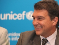 UNICEF pays tribute to Joan Laporta and Barça