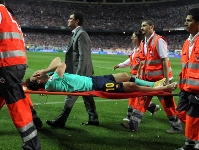 Messi suffers ligament damage
