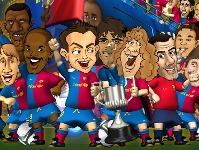 Image associated to news article on:  Barça Toons
