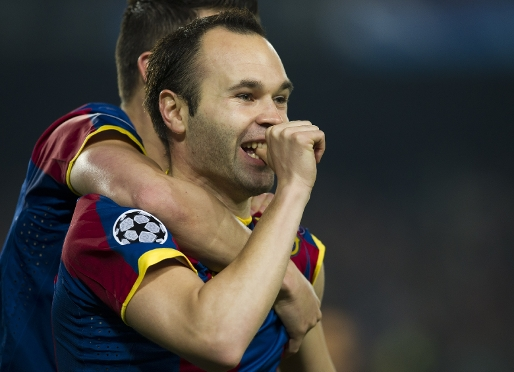 Iniesta has only missed ties that the team have ended up winning