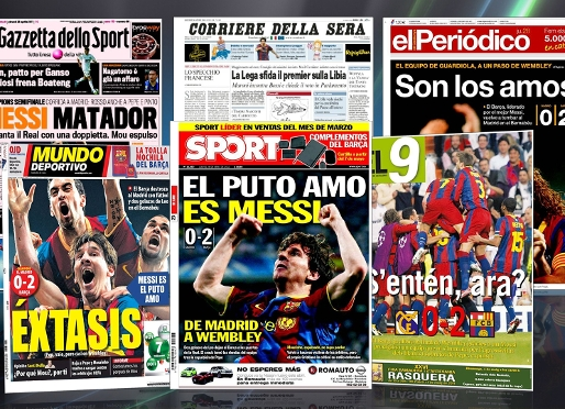World press hails the football of Barça and Messi