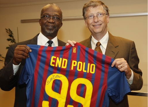 Bill Gates Polio Bill Gates Spreads Bar a