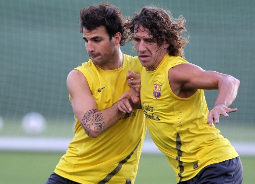 Puyol starts full training with the rest of the squad