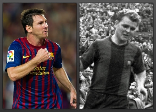 Leo Messi equals Ladislao Kubala as the second highest scorer ever