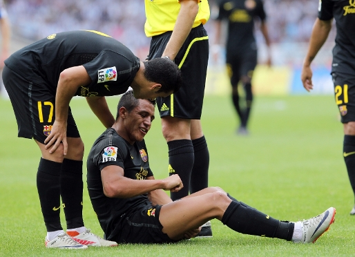 Alexis: torn ischiotibial muscle in right leg