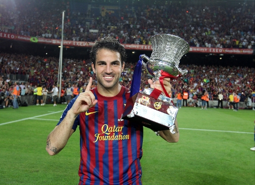 Cesc Fabregas marks his debut with a trophy